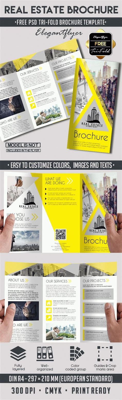 Tri Fold Brochure Templates Free By Elegantflyer Real Estate Free Tri Fold Psd Brochure Template By