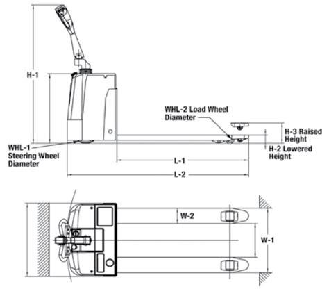 Part Deluxe Power Pallet Truck Wesco