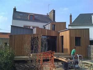 Les Constructeur De L Extreme Maison En Bois : une extension bois d 39 une maison nantaise r alis e par le ~ Dailycaller-alerts.com Idées de Décoration