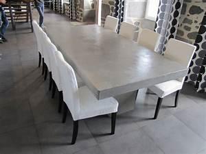 Table Beton Bois : table beton le site des tables en b ton cir ~ Premium-room.com Idées de Décoration