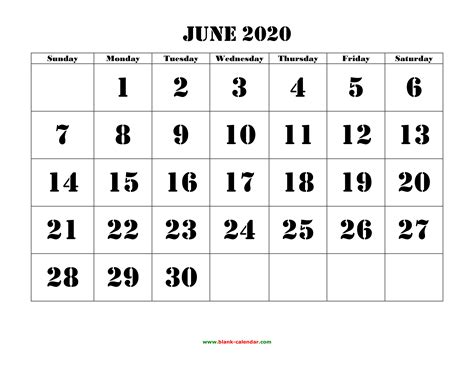 june  printable calendar   monthly