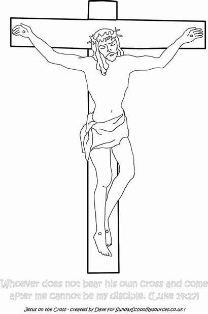 Jesus Cross Coloring Pages Sunday Death Printable