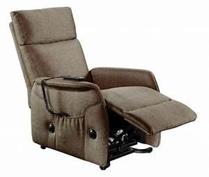 Fauteuil Electrique Pas Cher : fauteuil relax relevable elevato chocolat ~ Dode.kayakingforconservation.com Idées de Décoration