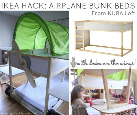 Ikea bed hack    Kura loft turned into an airplane bunk bed!