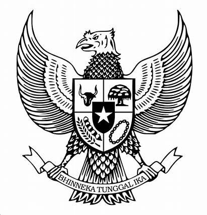 Garuda Lambang Burung Gambar Hitam Putih Pancasila