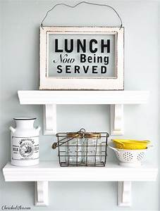 Easy to Build Kitchen Shelves - Cherished Bliss