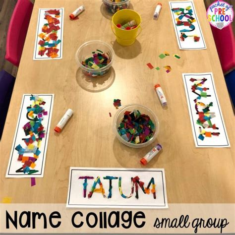 small group time  printable idea list