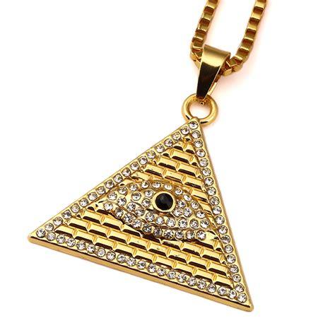 occhio di horus illuminati acquista all ingrosso occhio collana piramide da