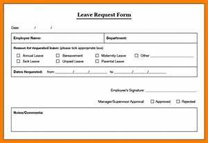 4 Staff Leave Form Template Park Attendant