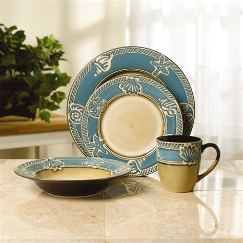 stoneware coastal dinnerware set pfaltzgraff whyrllcom