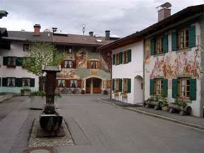 Houses Painted in Mittenwald Germany