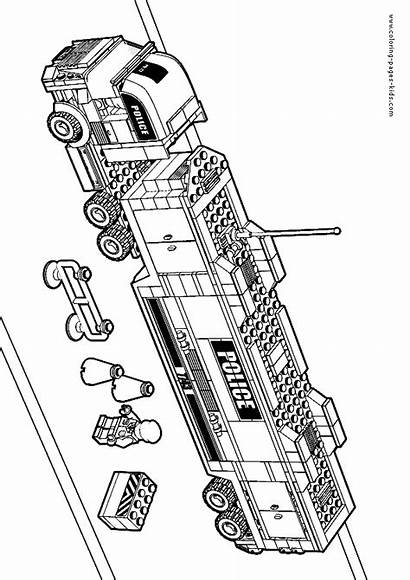 Lego Coloring Pages Printable Cartoon Sheets Colouring