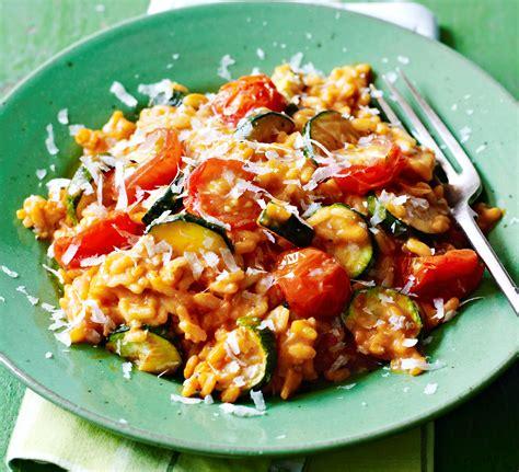 courgette cuisine tomato courgette risotto recipe food