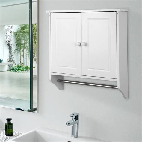 kitchen cabinet towel rail white wall mounted wooden cabinet doors shelf unit towel