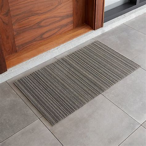 Crate And Barrel Doormat by Chilewich 20x36 Grey Striped Doormat Crate And Barrel