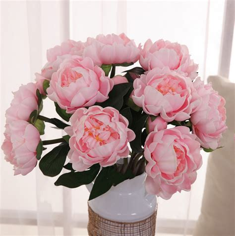 pu peony real touch flowerswedding party home decoration