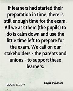 Final Examinati... Preparing Exam Quotes