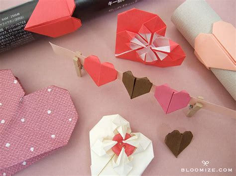 Sweet Origami Hearts ⇆ Bloomize