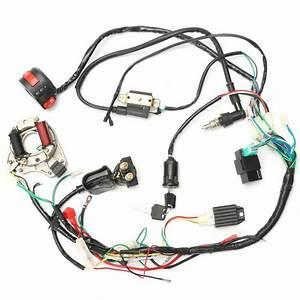 Atv Electric Start Quad Wiring Harness Cdi Stator Ignition
