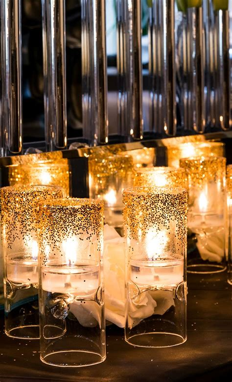 diy glitter candle holders for your wedding or special