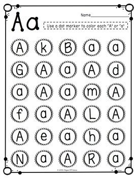 Free Uppercase & Lowercase Letter Recognition Packet By