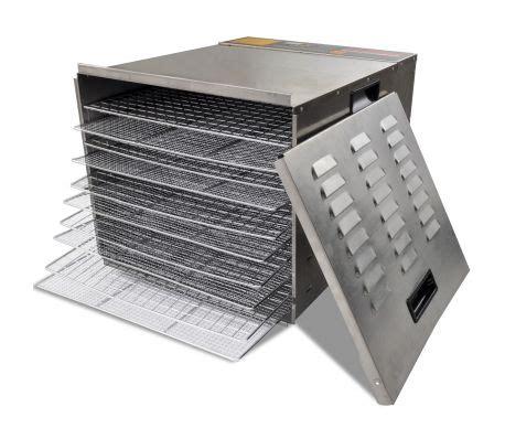 essicatore alimentare   vassoi  acciaio