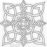 Celtic Coloring Knot sketch template