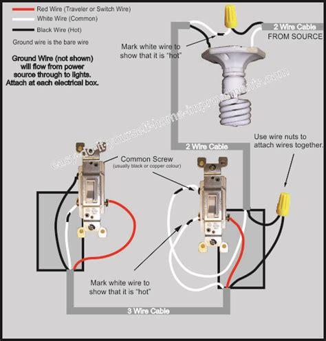 Wiring Diagram For Three Way Switch by 3 Way Switch Wiring Diagram
