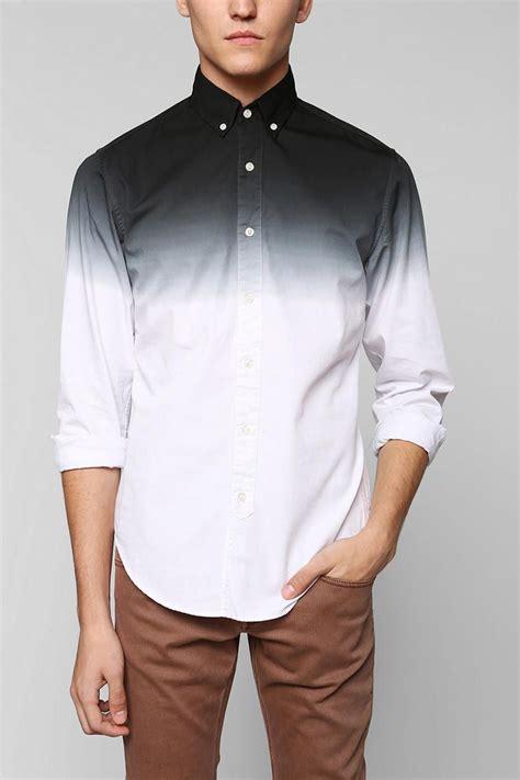 Shades Of Grey By Micah Cohen Dip Dye Button Down Shirt
