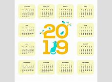 Printable 2019 One Page Calendar Monthly Calendar