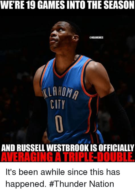 Russell Westbrook Meme - were19 games into the season ombamemes ilahoma city and russell westbrook is officially