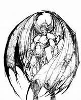 Demon Drawings Drawing Demons Coloring Angel Pencil Dragon Deviantart Pages Sketch Devil Scary Horror Female Heaven Dragons Colouring Angels Clipart sketch template