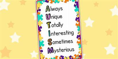 Autism Acronym Poster Resource Display Save Displays