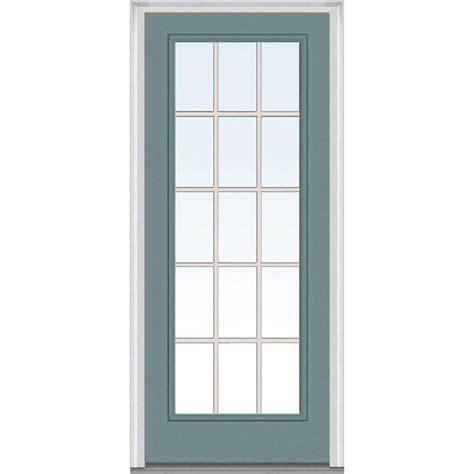 30 x 80 exterior door with window mmi door 30 in x 80 in classic clear glass gbg lite