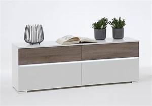 Lowboard Weiß Eiche : lowboard light wei sonoma eiche s gerau dunkel inkl led ~ Eleganceandgraceweddings.com Haus und Dekorationen