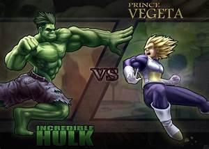 Hulk VS Vegeta by DenzelAJackson on DeviantArt