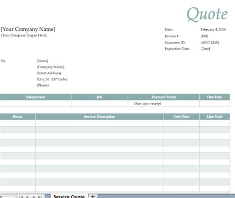 service quote template lawn care quotes circuit diagram maker