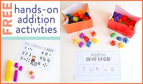 Free Addition Activities For First Grade  Susan Jones Teaching
