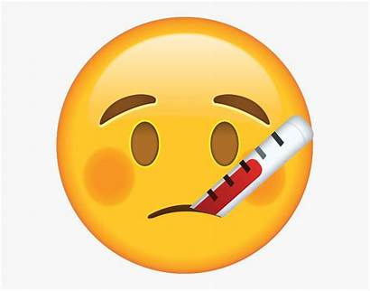 Iphone Emoji Sick Feeling Well Clipart Thermometer