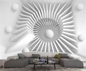 Papier Peint Blanc Relief : papier peint intisse trompe l oeil photo murale relief 3d blanc escalier wallpaper art wall ~ Melissatoandfro.com Idées de Décoration