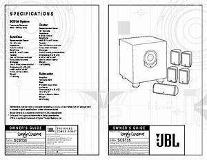 Jbl Scs 135 Sub User Guide    Operation Manual  U2014 View