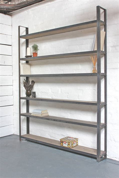 kitchen bookcases cabinets tom reclaimed pine and steel framed shelving unit by 2323