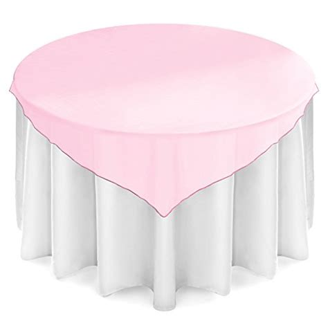 light pink table linens lann 39 s linens organza table overlays wedding banquet
