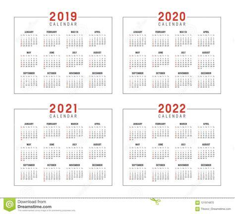 anos calendarios ilustracao vetor