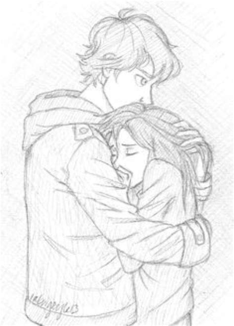 hugging couple drawing  getdrawings