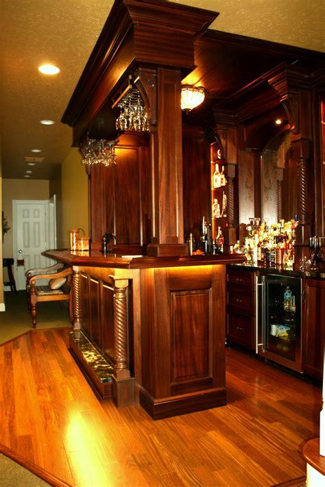 Bar Styles by Lower Level Pub Style Mahogany Bar