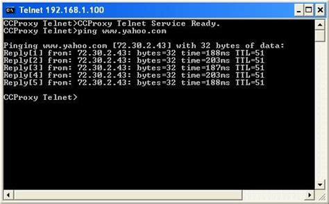 ping command  cc proxy server software