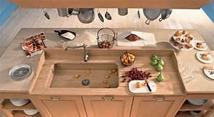Meuble Plan De Travail Cuisine : meuble moderne pour cuisine bois d 39 ambiance authentique ~ Teatrodelosmanantiales.com Idées de Décoration