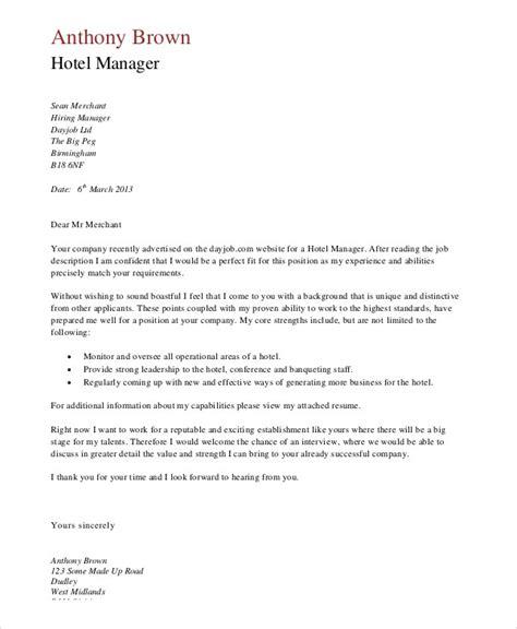 Application Letter Format Hotel