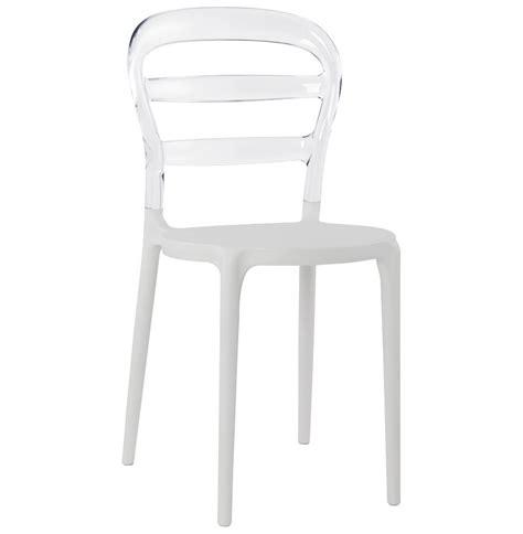 chaise transparente design chaise design baro blanche transparente en polycarbonate